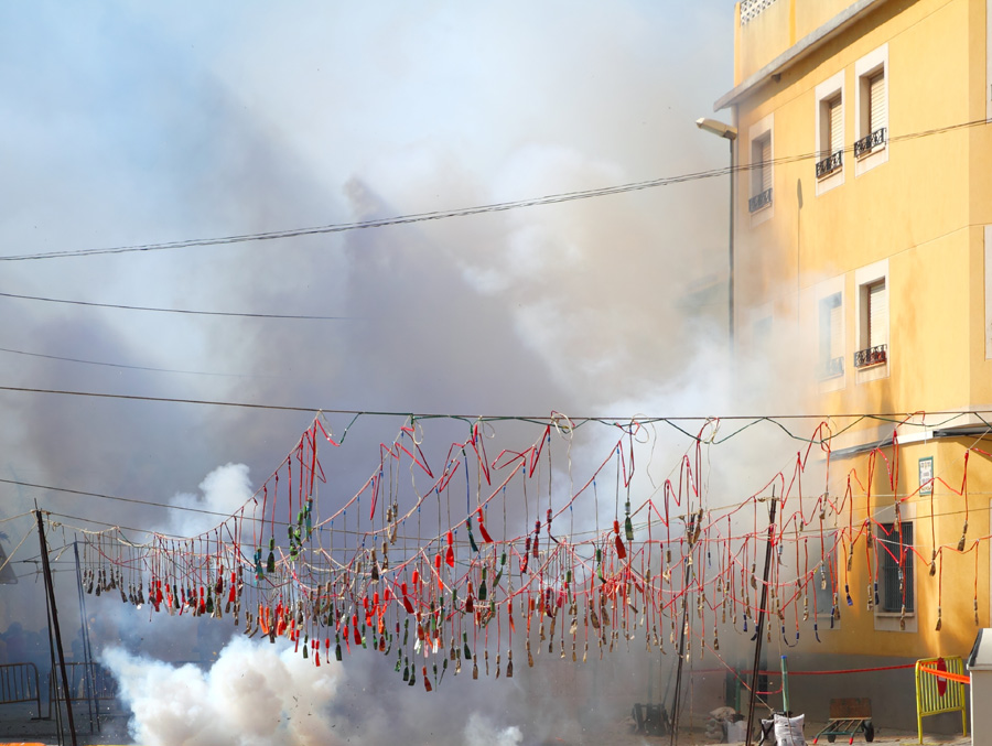 Mascleta Fallas Firecrackers in Valencia