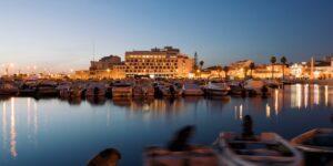 Faro Fish and Seafood Walking Tour: Faro Port at night