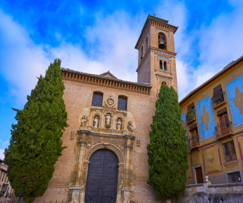 Saint Gil and Ana church in Granada Spain