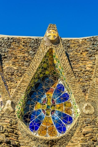 Barcelona The Guell Colony Gaudi Crypt