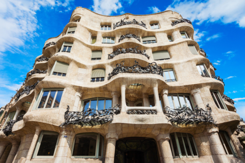 Casa Mila building in Barcelona